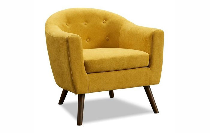 Кресло Florence желтого цвета