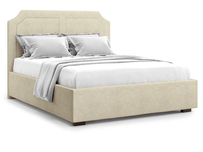 Кровать с подъемным механизмом Lago 140х200 бежевого цвета