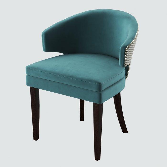 Стул-кресло мягкий Verbena серо-зеленого цвета