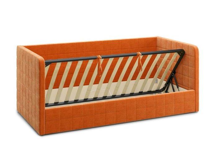 Кровать с подъемным механизмом Brenta 90х200 оранжевого цвета