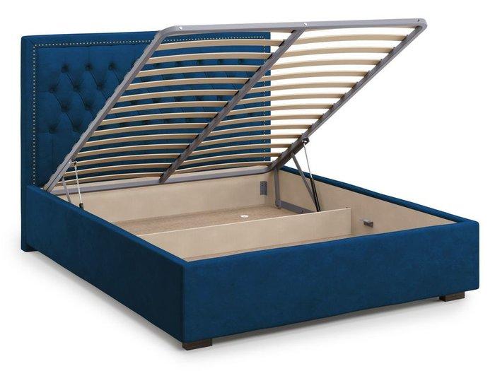 Кровать с подъемным механизмом Orto 180х200 синего цвета