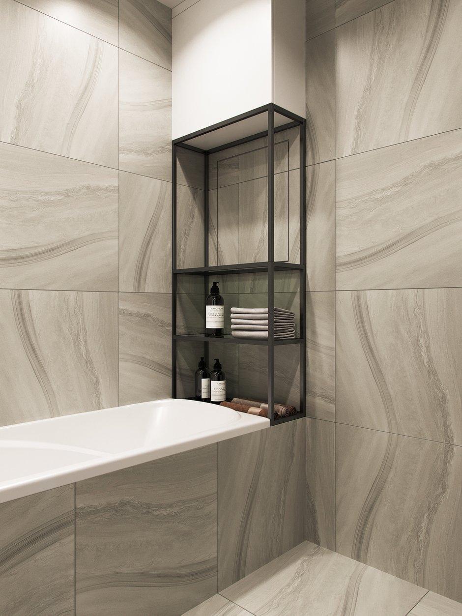 Фотография: Ванная в стиле Современный, Квартира, Проект недели, Москва, 3 комнаты, 60-90 метров, Balcon – фото на INMYROOM