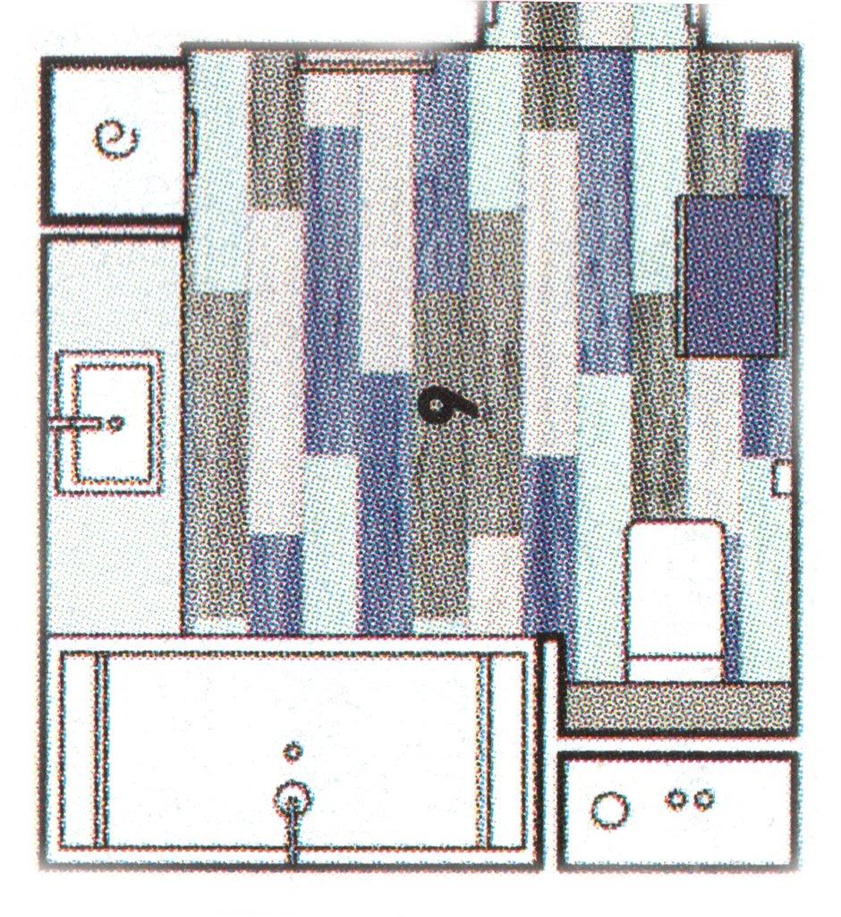 Фотография: Планировки в стиле , Ванная, Современный, Проект недели, Черный, Москва, Синий, Серый, «Капитель», Елена Булагина, как объединить ванную и туалет, дизайн совместного санузла, санузел в синем цвете, как оформить санузел для семьи – фото на INMYROOM