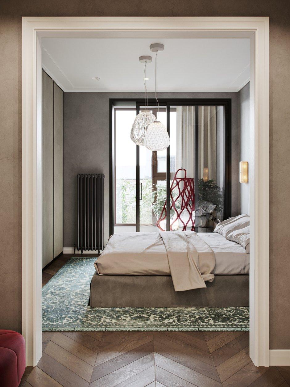 Фотография: Спальня в стиле Современный, Miele, Проект недели, Москва, 4 и больше, Более 90 метров, Aiya Design, ЖК «Red Side» – фото на INMYROOM