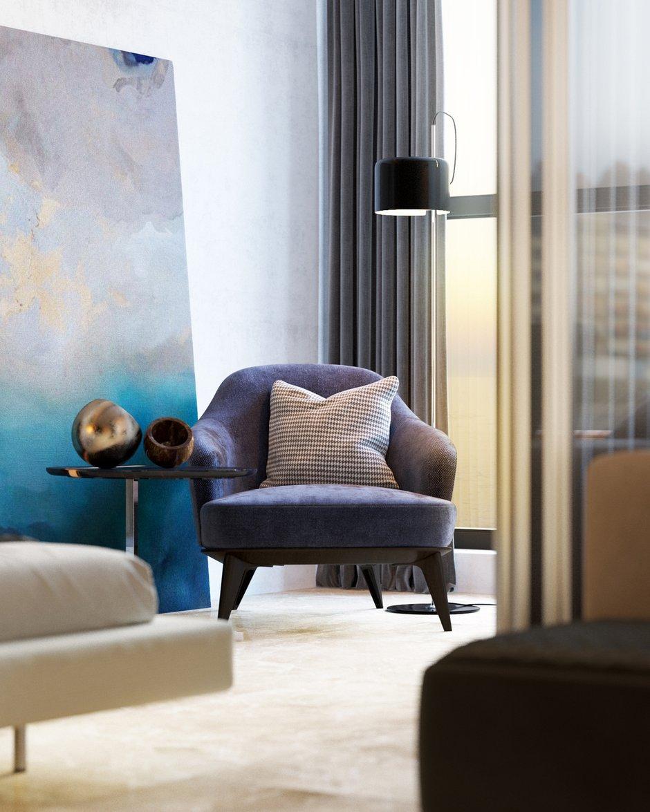 Фотография: Спальня в стиле Современный, Квартира, Студия, Минимализм, Проект недели, Монолитный дом, 40-60 метров, Батуми, Грузия, VAE design & architecture – фото на INMYROOM