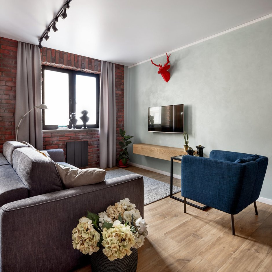 Фотография: Гостиная в стиле Лофт, Декоративная штукатурка, Гид, Dali decor, Dali-Decor – фото на INMYROOM