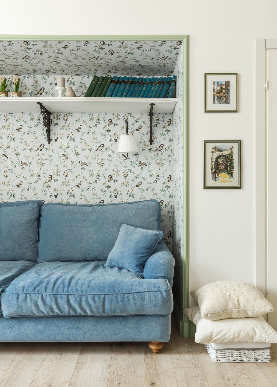 Фотография: Гостиная в стиле Прованс и Кантри, Квартира, Проект недели, Москва, 3 комнаты, 60-90 метров – фото на INMYROOM