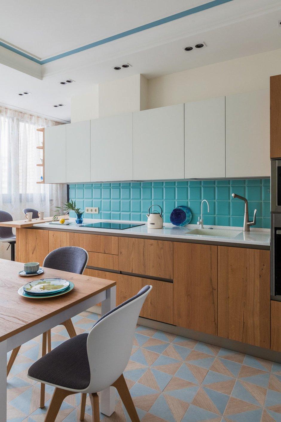 Фотография: Кухня и столовая в стиле Современный, Квартира, Проект недели, Москва, 2 комнаты, 60-90 метров, Виктория Скоробогатько – фото на INMYROOM