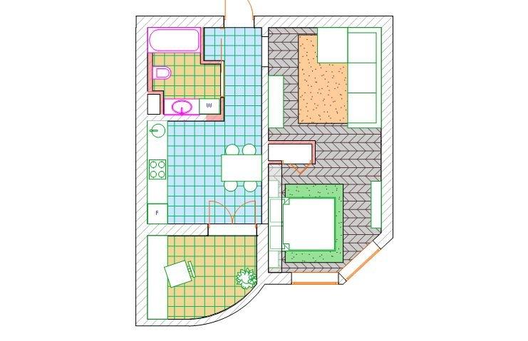 Фотография: Планировки в стиле , Лофт, Квартира, Проект недели – фото на INMYROOM