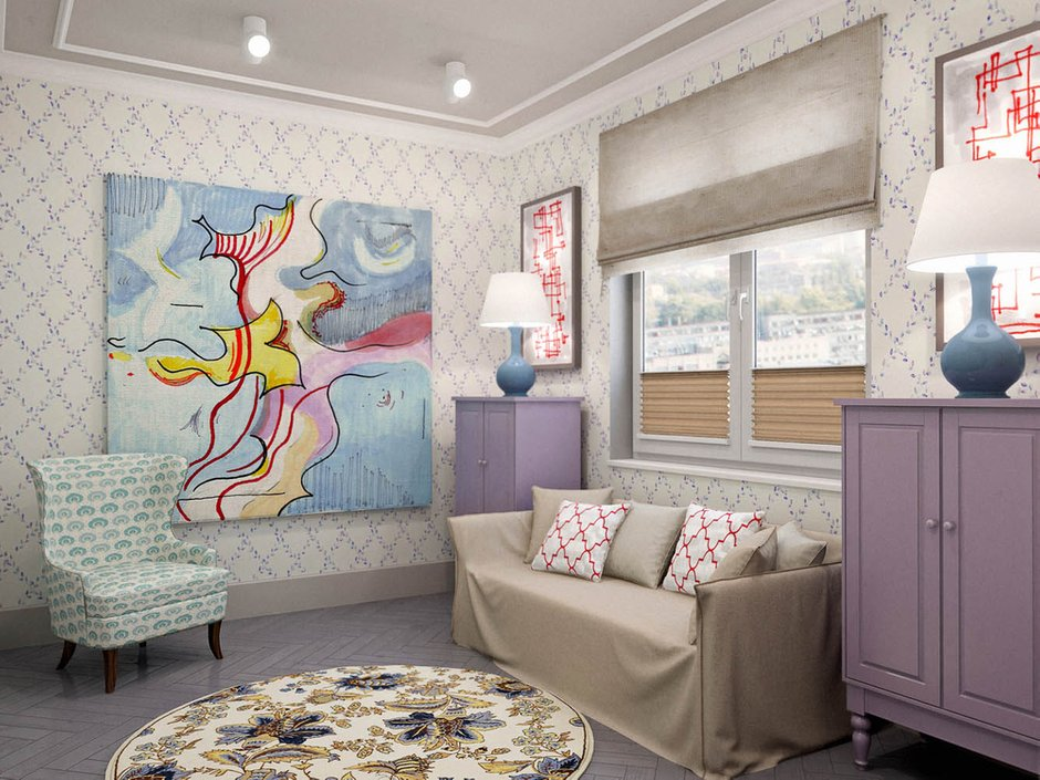 Фотография: Гостиная в стиле Скандинавский, Классический, Эклектика, Квартира, Проект недели – фото на INMYROOM
