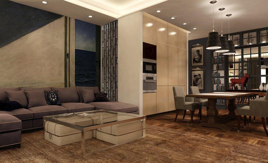 Фотография: Гостиная в стиле , Квартира, Дома и квартиры, Проект недели, Переделка – фото на INMYROOM