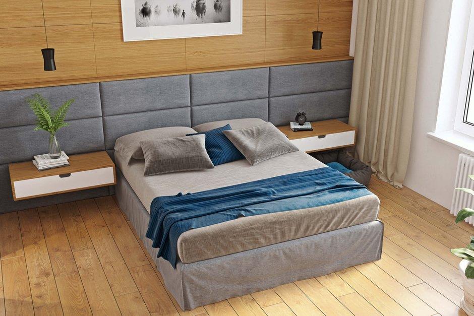 Фотография: Спальня в стиле Современный, Квартира, Проект недели, Geometrium, Монолитный дом, 3 комнаты, 60-90 метров, ЖК «Арт Casa Luna» – фото на INMYROOM