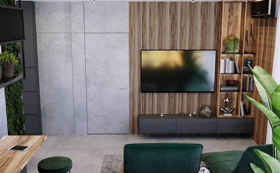 Фотография: Гостиная в стиле Лофт, Современный, Квартира, Проект недели, Санкт-Петербург, 3 комнаты, 60-90 метров, Монолитно-кирпичный, Студия 20:18 – фото на INMYROOM