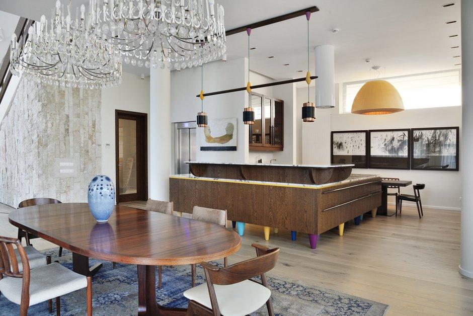 Фотография: Гостиная в стиле Лофт, Эклектика, Кухня и столовая, Интерьер комнат, Проект недели – фото на INMYROOM