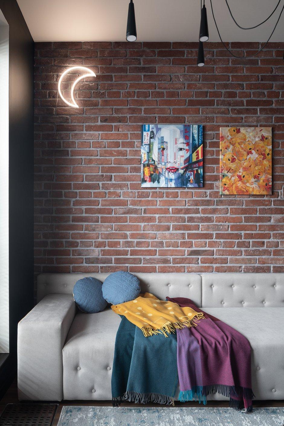 Фотография: Гостиная в стиле Лофт, Квартира, Студия, Проект недели, Санкт-Петербург, 40-60 метров, VizDiz – фото на INMYROOM