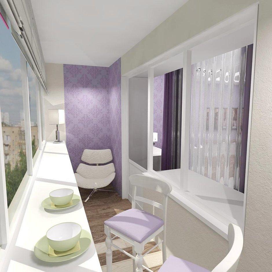 Фотография: Кухня и столовая в стиле Современный, Балкон, Интерьер комнат – фото на InMyRoom.ru