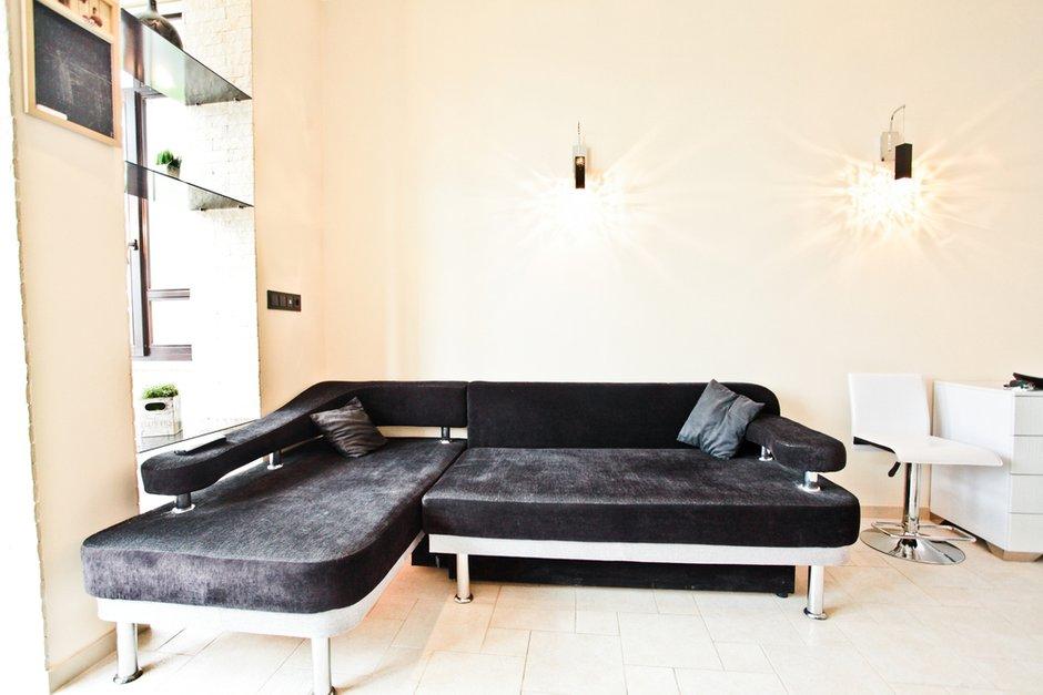 Фотография: Гостиная в стиле Современный, Квартира, Цвет в интерьере, Дома и квартиры – фото на INMYROOM