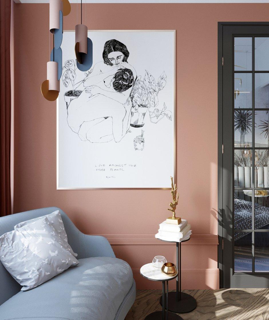 Фотография: Гостиная в стиле Современный, Малогабаритная квартира, Квартира, Проект недели, Санкт-Петербург, Сталинка, 1 комната, до 40 метров, АРИНА ТРОИЛОВА – фото на INMYROOM