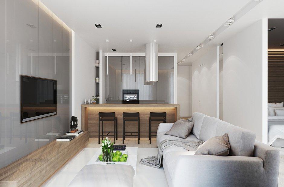 Фотография: Кухня и столовая в стиле Лофт, Современный, Квартира, Минимализм, Проект недели – фото на INMYROOM