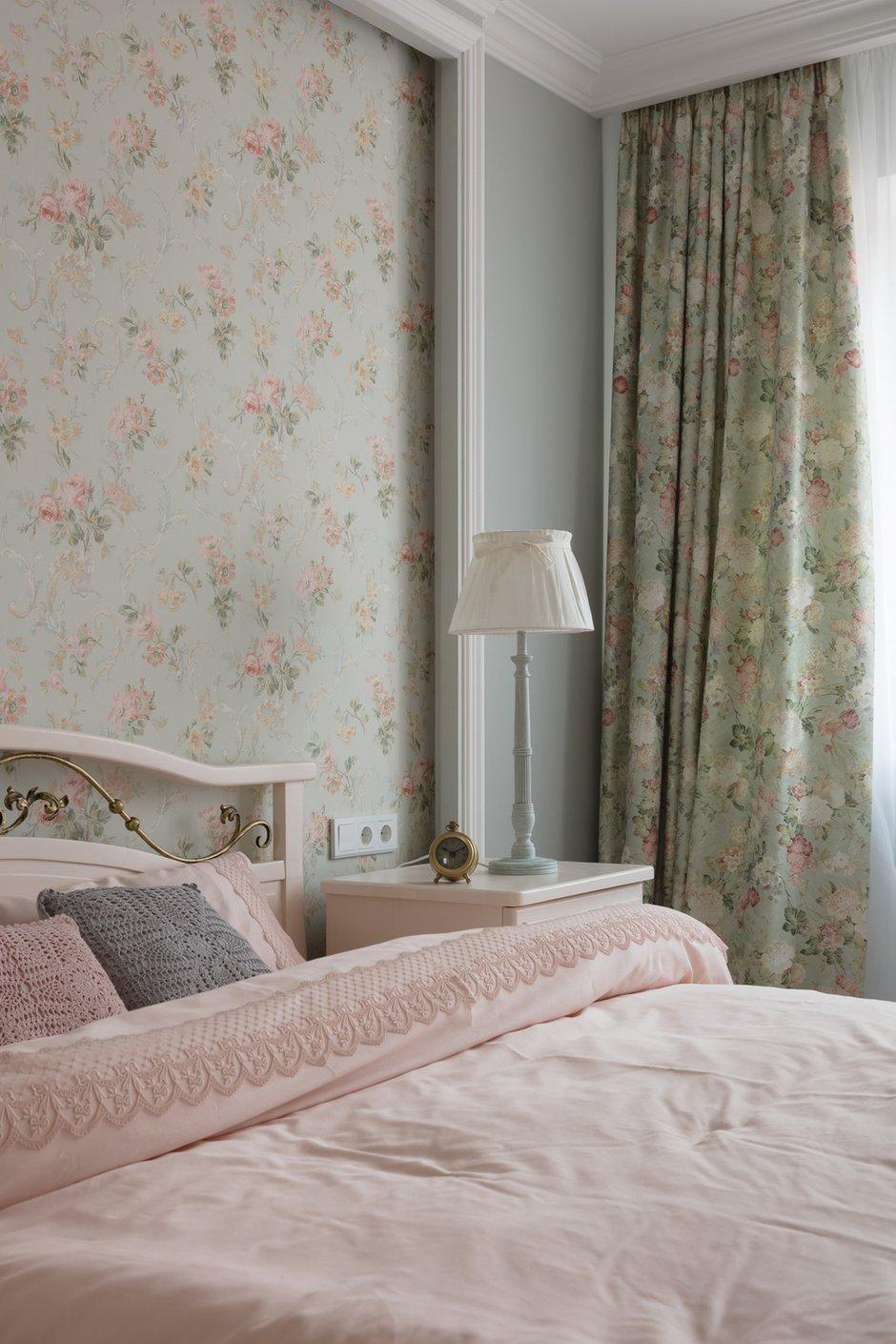 Фотография: Спальня в стиле Прованс и Кантри, Квартира, Проект недели, Балашиха, Монолитный дом, 2 комнаты, 60-90 метров, Анна Елина – фото на INMYROOM