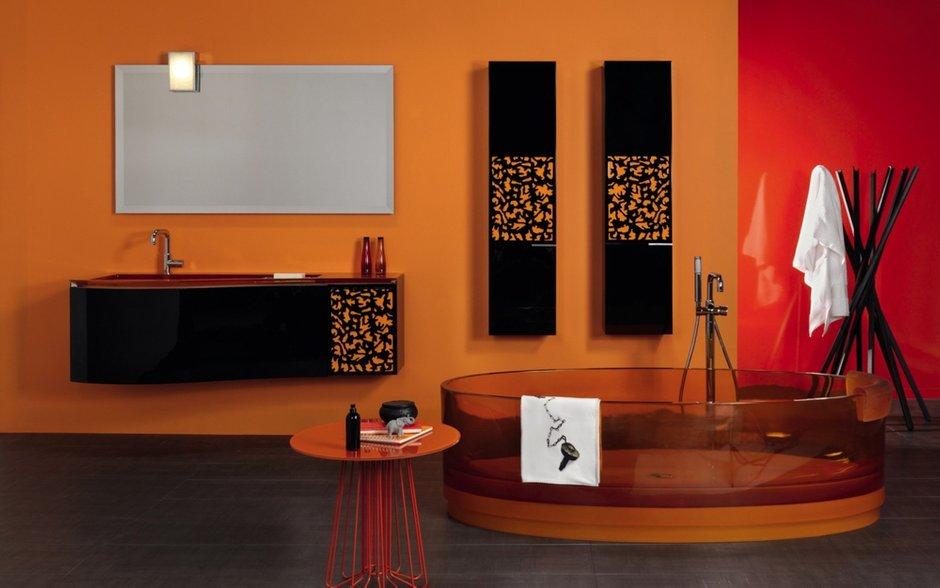Фотография: Ванная в стиле Современный, Декор интерьера, Дизайн интерьера, Цвет в интерьере, Dulux, Оранжевый, ColourFutures – фото на INMYROOM