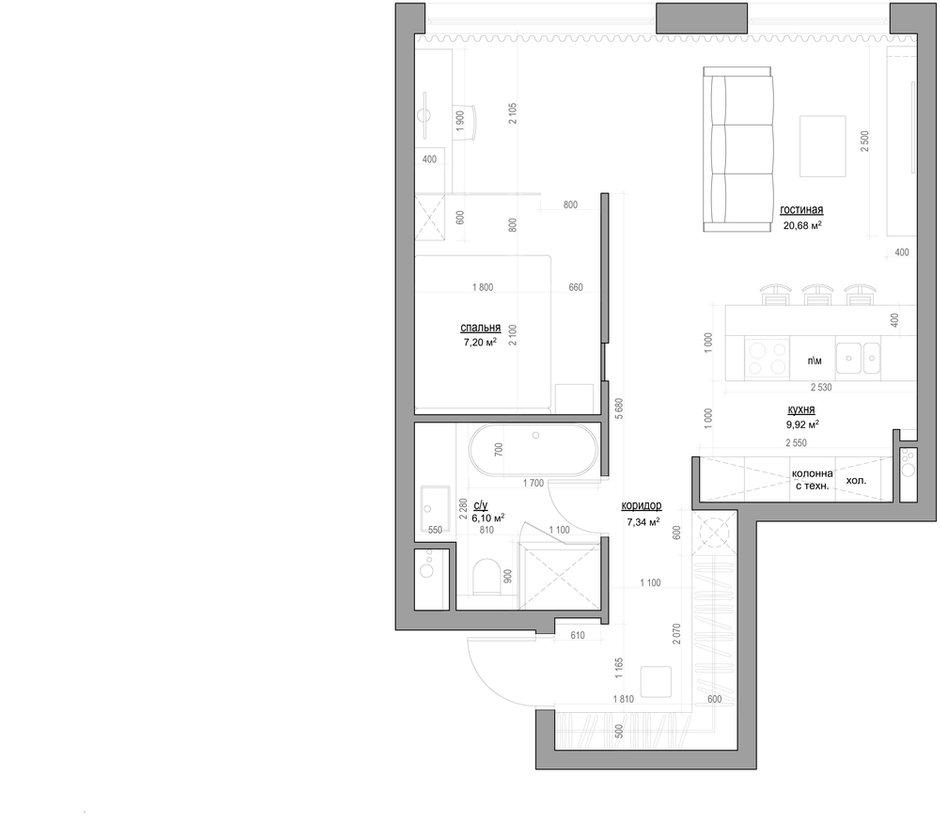 Фотография: Планировки в стиле , Квартира, Минимализм, Проект недели – фото на INMYROOM