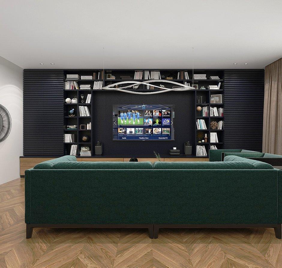 Фотография: Гостиная в стиле Современный, Квартира, Проект недели, Москва, Виктория Золина, 2 комнаты, 60-90 метров, Монолитно-кирпичный – фото на INMYROOM