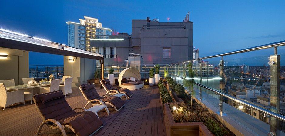 Фотография: Балкон, Терраса в стиле , Классический, Квартира, Дома и квартиры, Пентхаус – фото на INMYROOM
