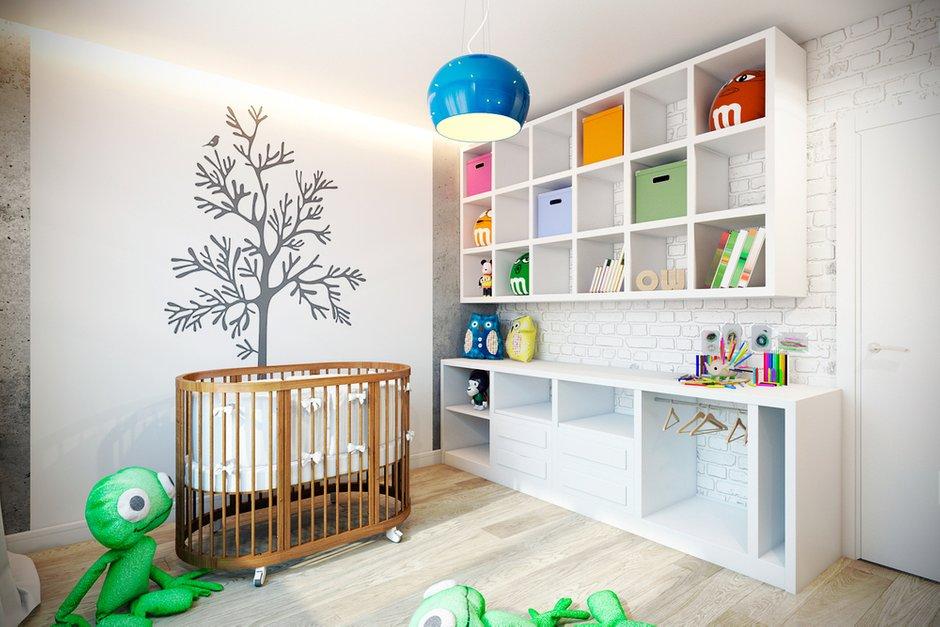 Фотография: Детская в стиле Скандинавский, Лофт, Квартира, Дома и квартиры, Проект недели – фото на INMYROOM