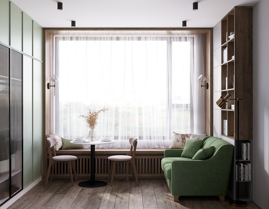 Фотография: Гостиная в стиле Современный, Малогабаритная квартира, Квартира, Студия, Проект недели, Москва, до 40 метров, Оксана Дьяпич, Реноме – фото на INMYROOM