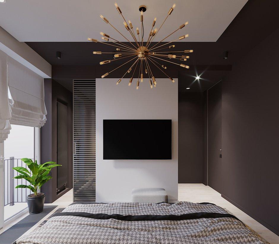 Фотография: Спальня в стиле Современный, Квартира, Проект недели, Смоленск, Монолитный дом, 3 комнаты, Более 90 метров, Никита Михайлов, Lineika Design – фото на INMYROOM