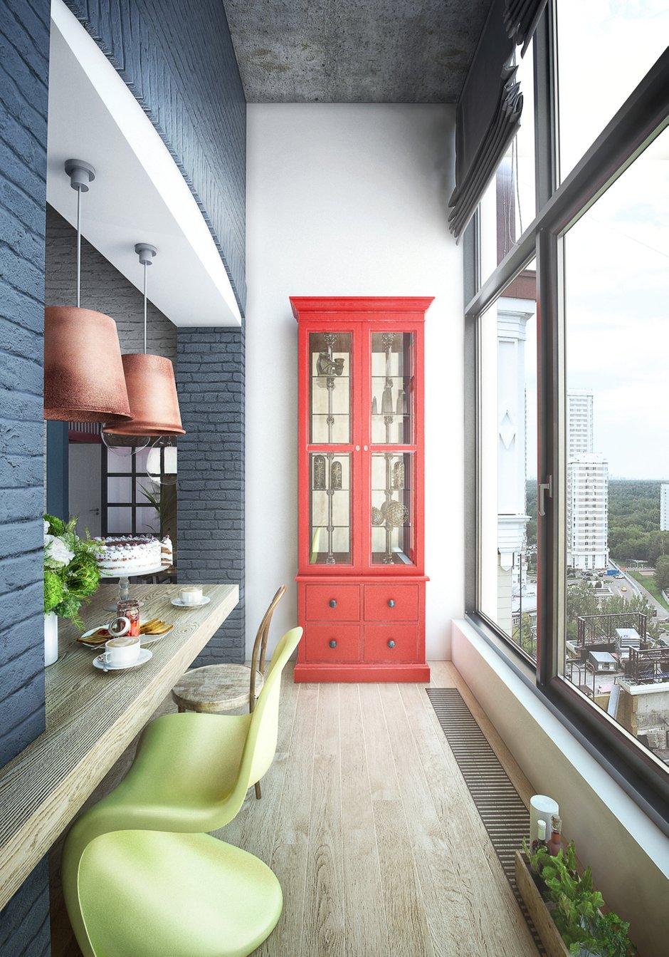 Фотография: Балкон в стиле Лофт, Квартира, Проект недели, Москва, ToTaste Studio, Монолитный дом, 4 и больше, 60-90 метров, ЖК «Соколиный форт» – фото на INMYROOM