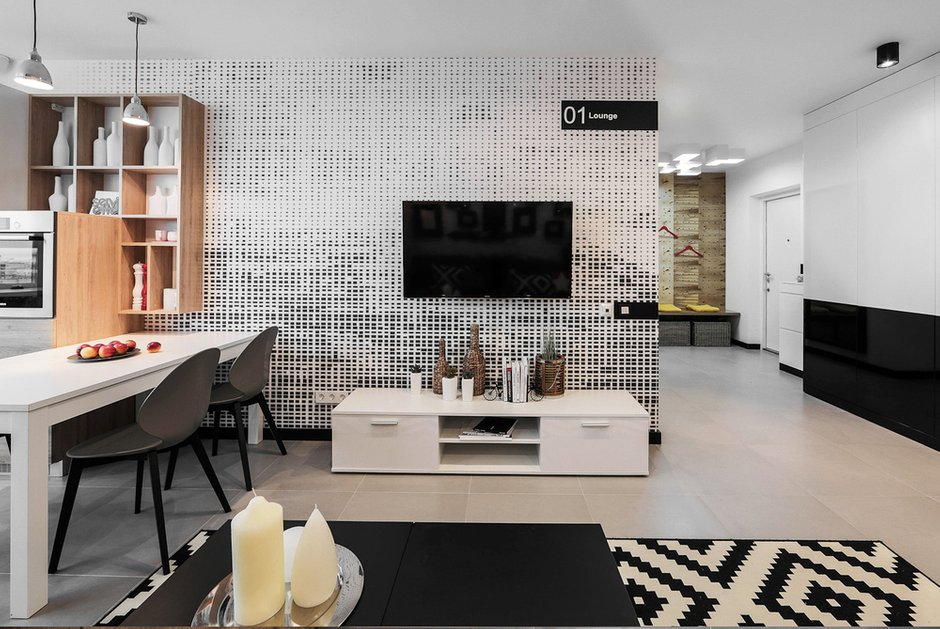 Фотография: Гостиная в стиле Лофт, Современный, Квартира, Дома и квартиры, IKEA, Минимализм, Проект недели – фото на InMyRoom.ru