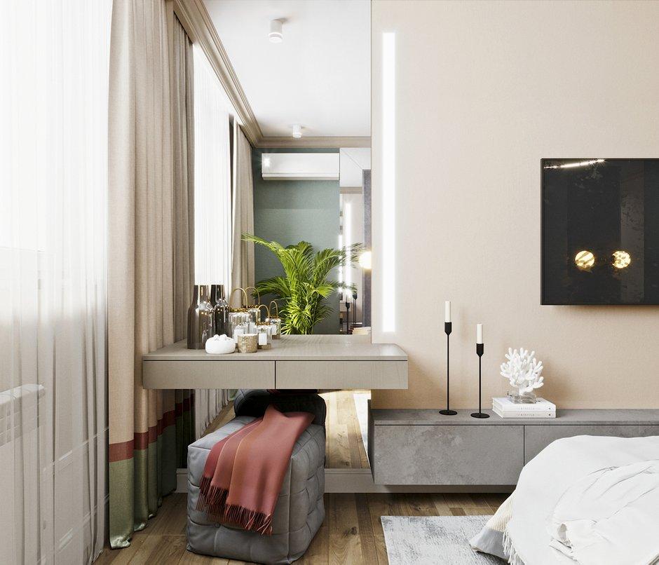 Фотография: Спальня в стиле Современный, Квартира, Проект недели, Новосибирск, студия Mango, Монолитный дом, 3 комнаты, Более 90 метров – фото на INMYROOM