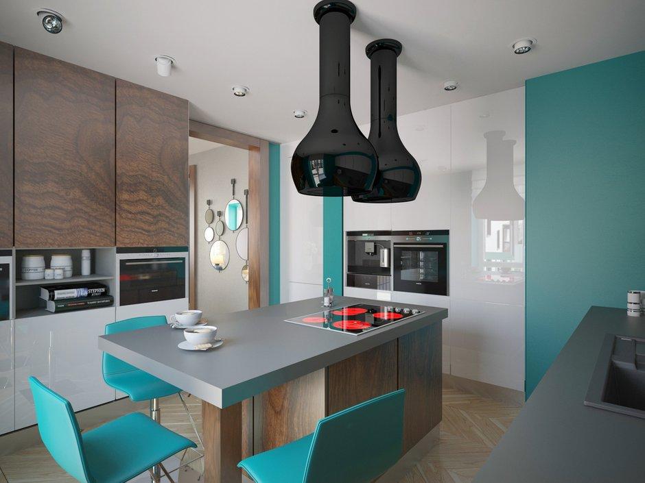 Фотография: Кухня и столовая в стиле Хай-тек, Квартира, Дома и квартиры, Проект недели, Пентхаус – фото на INMYROOM