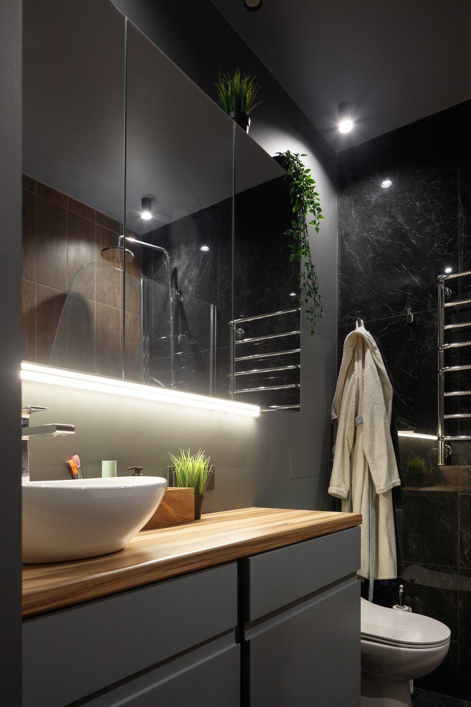 Фотография: Ванная в стиле Современный, Малогабаритная квартира, Квартира, Студия, Проект недели, Москва, до 40 метров, Анастасия Калистова, Kalistova.Interior – фото на INMYROOM