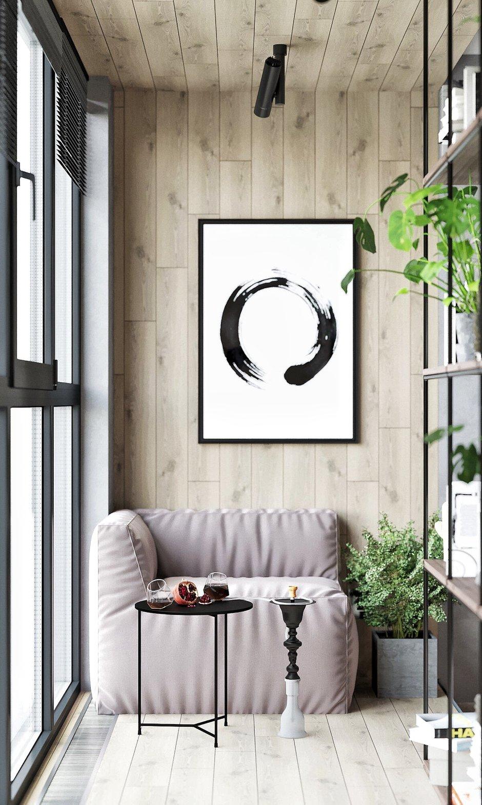 Фотография: Балкон в стиле Лофт, Эклектика, Квартира, Россия, Проект недели, Серый, Розовый, Екатеринбург, Монолитный дом, 2 комнаты, 40-60 метров, IN MY BOX – фото на INMYROOM