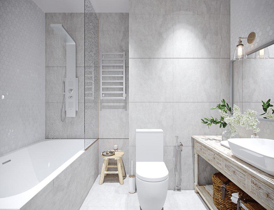 Золотые бра являются дополнительным освещением в зоне зеркала и красивым декоративным элементом.