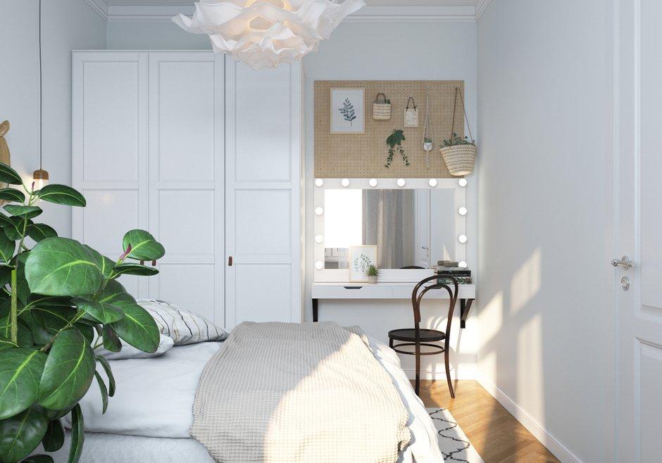 Мебель подобрали преимущественно в ИКЕА: все предметы отлично сочетаются между собой.