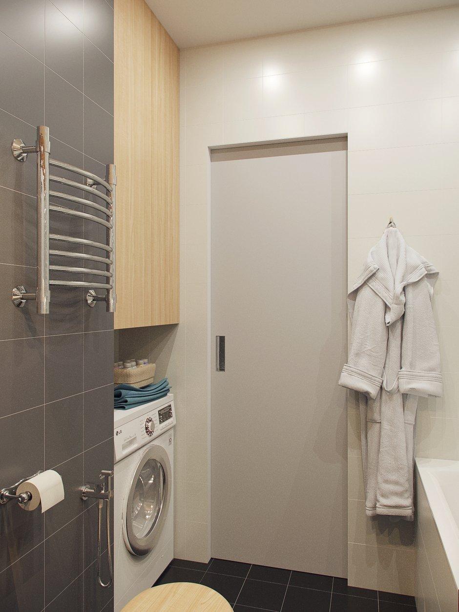 Фотография: Ванная в стиле Скандинавский, Малогабаритная квартира, Квартира, Проект недели, Москва, Ксения Драпей – фото на INMYROOM
