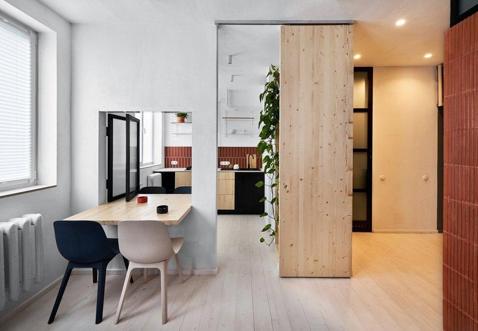 Фотография: Кухня и столовая в стиле Минимализм, Лофт, Малогабаритная квартира, Квартира, Студия, Проект недели, Калининград, до 40 метров, Line Design Studio – фото на INMYROOM