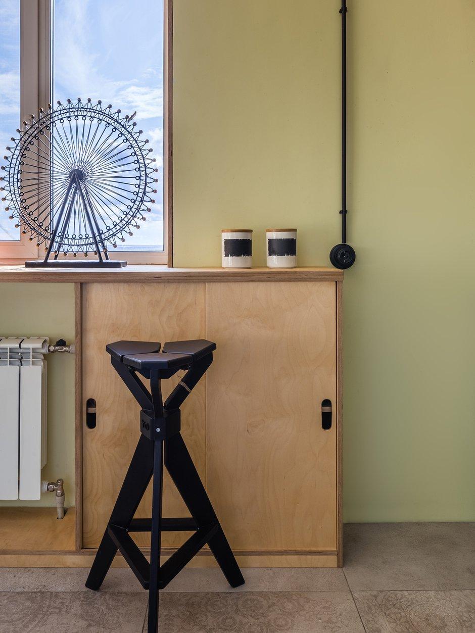 Фотография: Кухня и столовая в стиле Лофт, Квартира, Проект недели, Самара, 1 комната, до 40 метров, Екатерина Малмыгина – фото на INMYROOM
