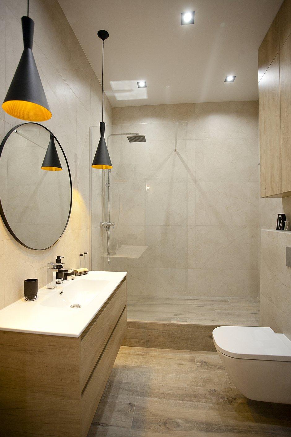 Фотография: Ванная в стиле Современный, Квартира, Проект недели, Москва, 1 комната, 40-60 метров, Аделина Шарапова – фото на INMYROOM