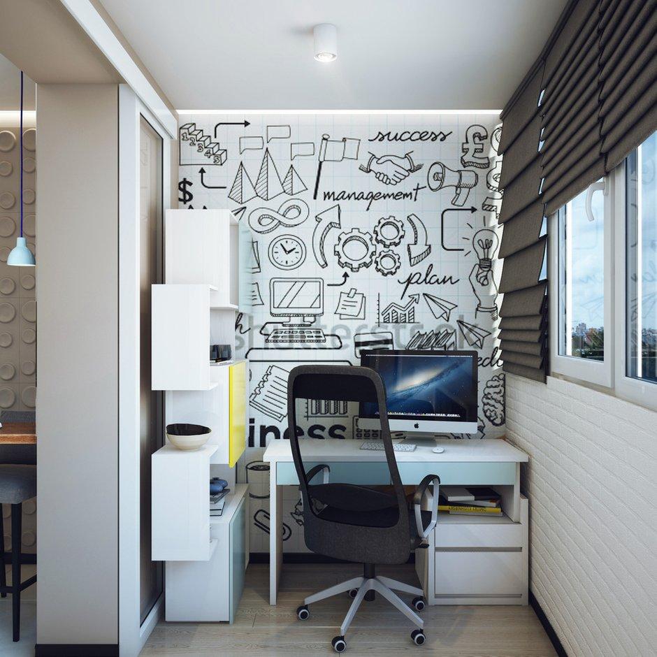 Фотография: Офис в стиле Современный, Малогабаритная квартира, Квартира, Дома и квартиры, Проект недели – фото на INMYROOM