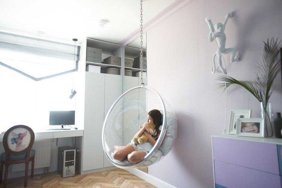 Фотография: Детская в стиле Современный, Квартира, Проект недели, Москва, 2 комнаты, 40-60 метров, 60-90 метров, Светлана Пырх – фото на INMYROOM