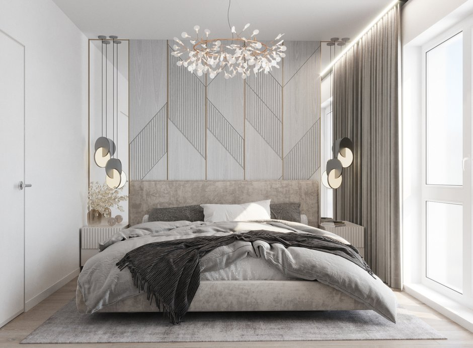 Фотография: Спальня в стиле Современный, Квартира, Проект недели, Минск, 2 комнаты, 40-60 метров, Mood2 – фото на INMYROOM