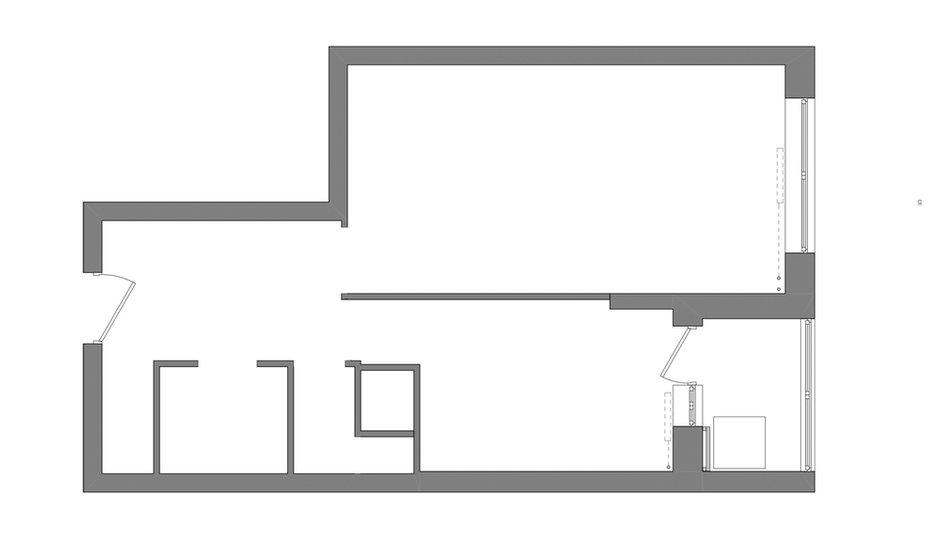 Фотография: Планировки в стиле , Скандинавский, Малогабаритная квартира, Квартира, Студия, Проект недели, Москва, Панельный дом, 40-60 метров – фото на INMYROOM
