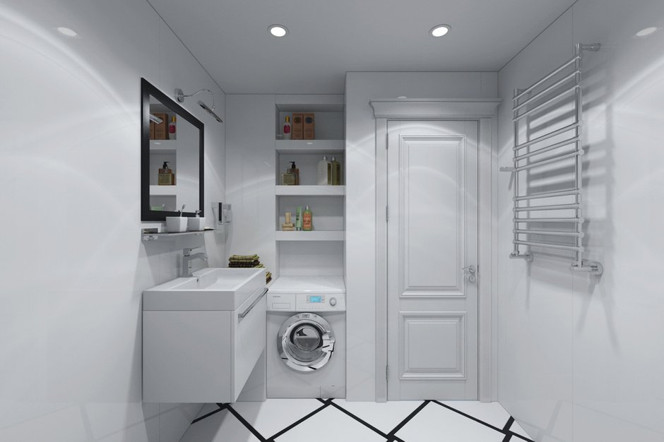 Фотография: Ванная в стиле Хай-тек, Квартира, Дома и квартиры, Проект недели – фото на INMYROOM