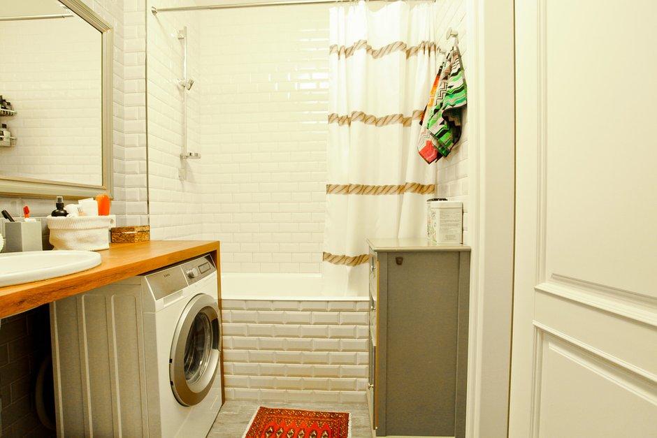 Фотография: Ванная в стиле Современный, Скандинавский, Квартира, Проект недели – фото на INMYROOM
