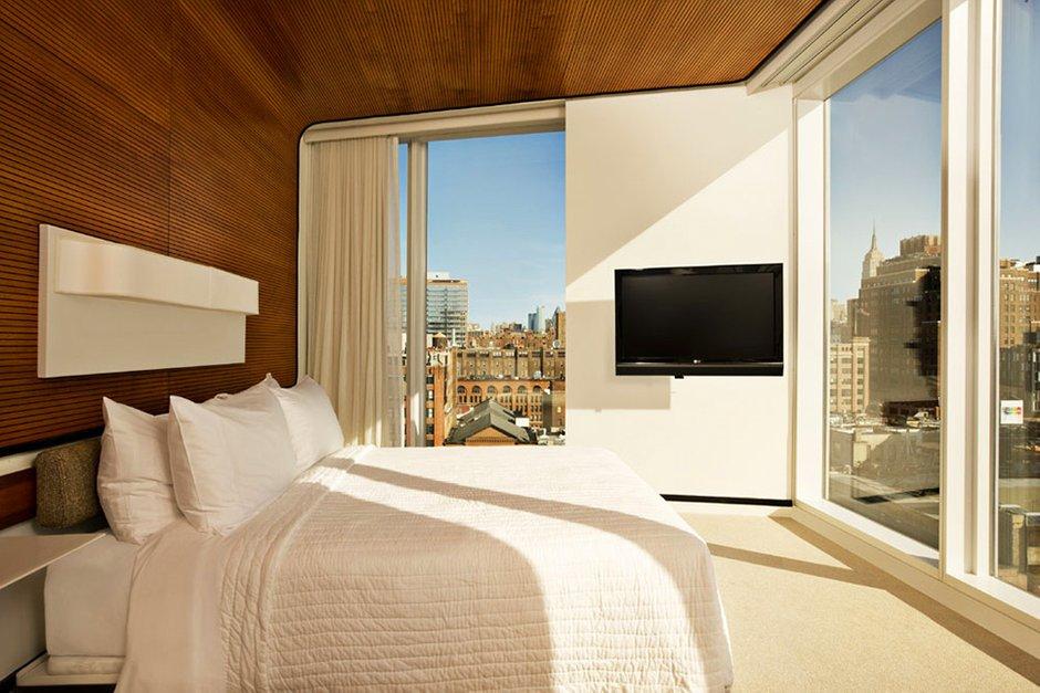 Фотография: Спальня в стиле Современный, Декор интерьера, Дома и квартиры, Городские места, Отель, Проект недели, Нью-Йорк – фото на INMYROOM